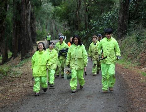 Shows CVA volunteers, Edward Hunter Heritage Bush Reserve